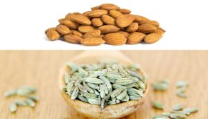 ALMOND AND FENNEL SEEDS